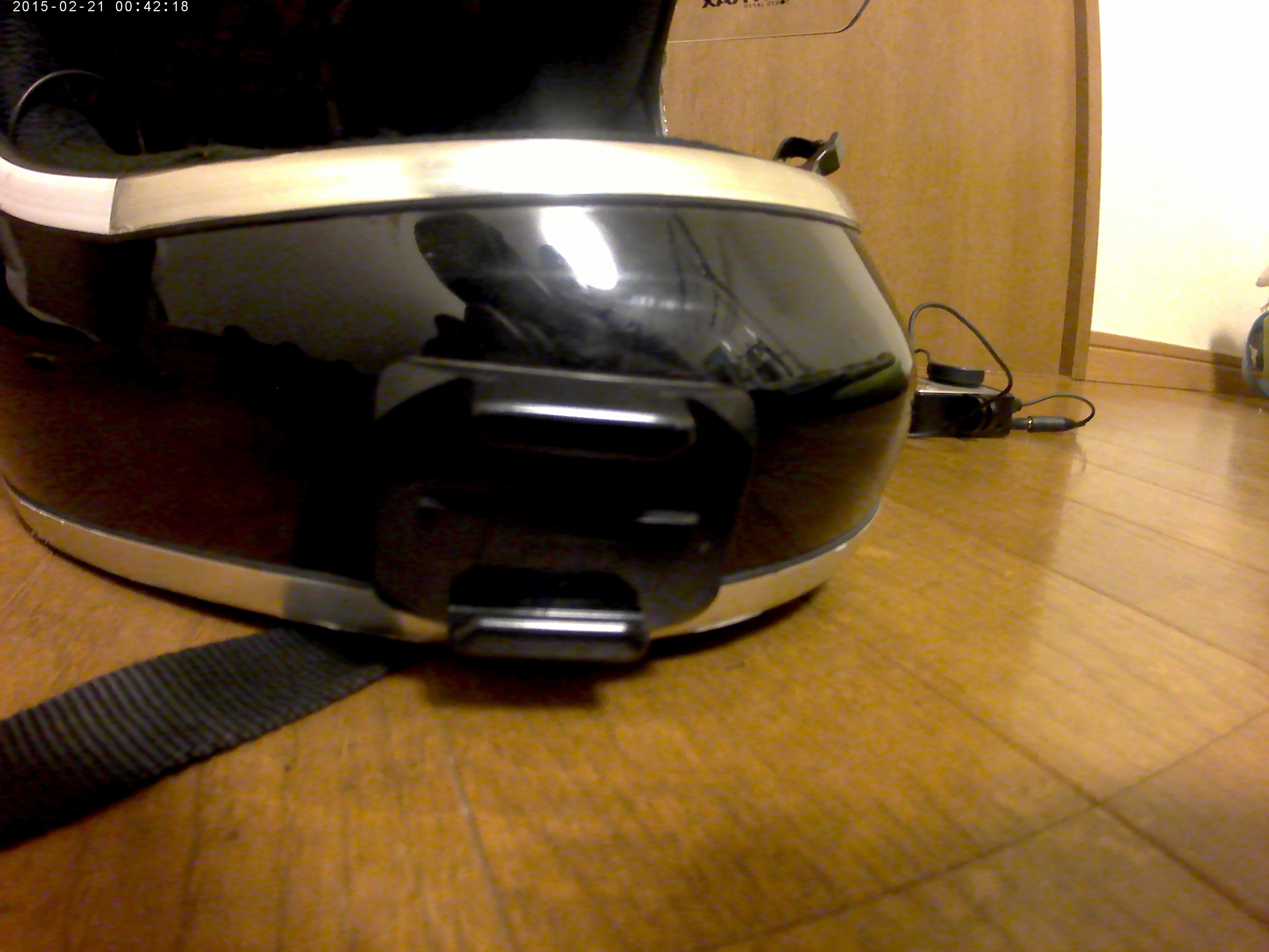 ヘルメットにベースマウントを取り付け