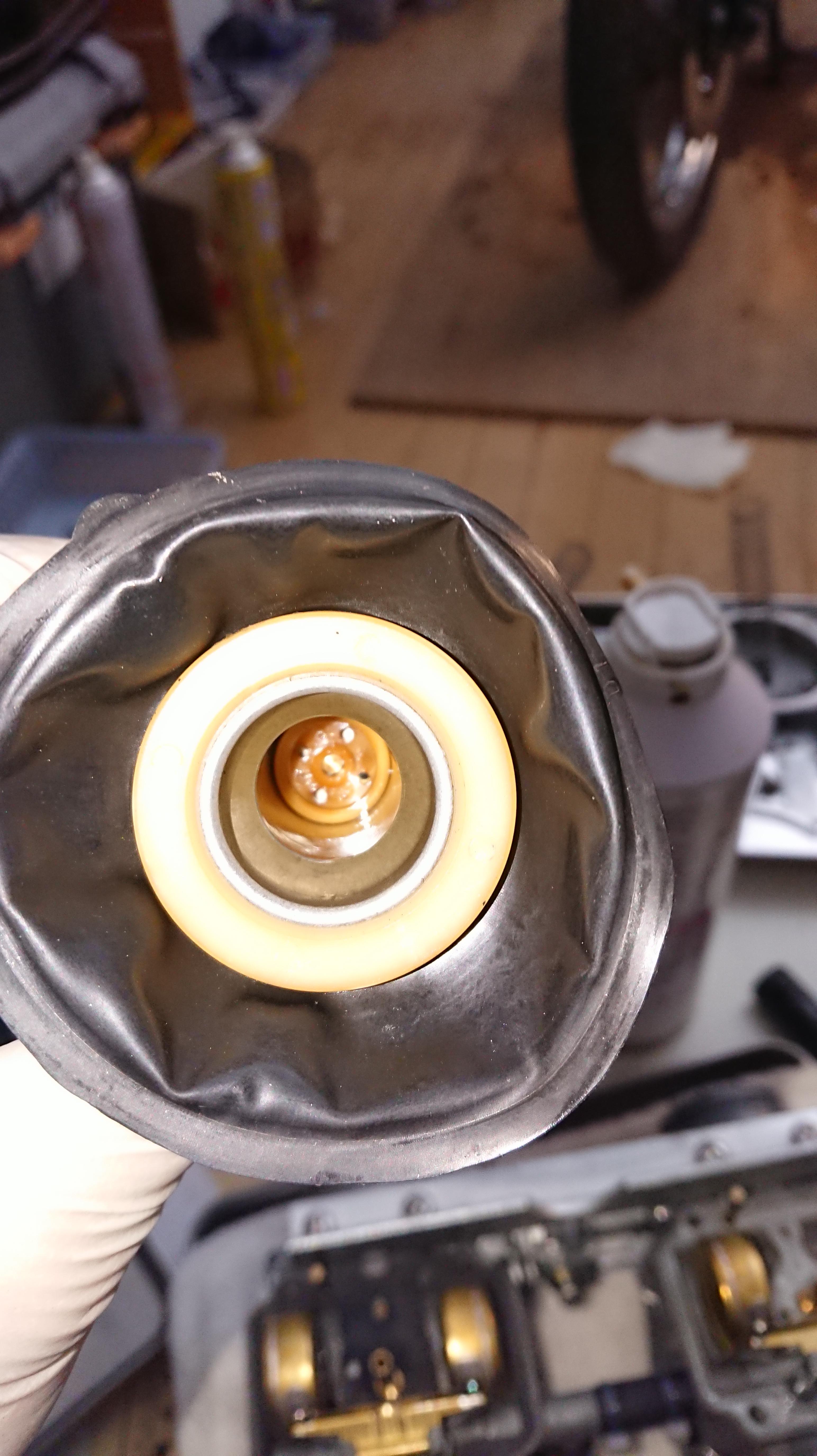GS400のキャブにダイヤフラム