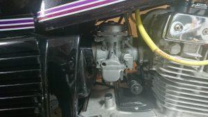 GSX250Eのキャブとインシュレータ