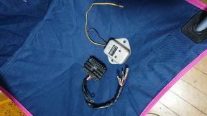 GS400のレギュレータとレクチファイア