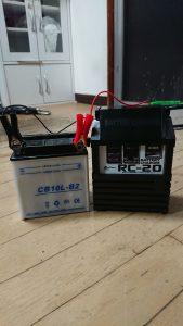 GS400のバッテリ充電