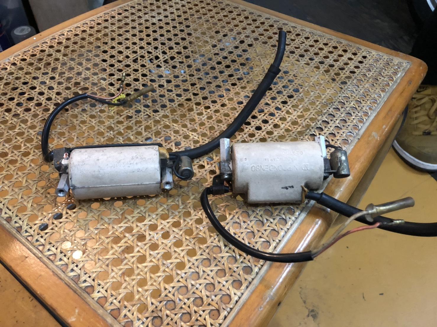 GS400のイグニッションコイルのコンデンサー交換