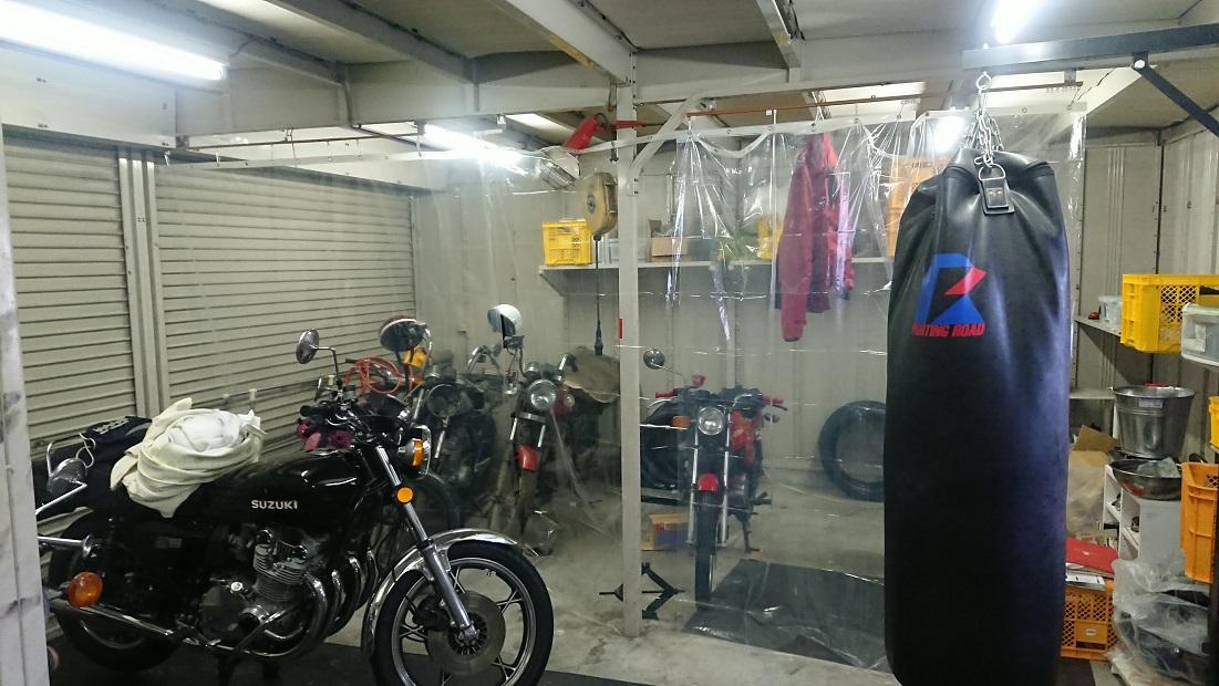 ガレージにビニールカーテン施工完了